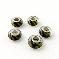 10 Yellow 14x9mm Lampwork Glass Charm Beads